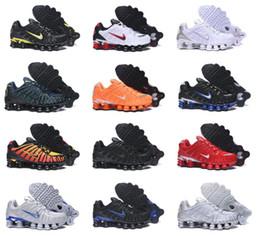 Venta al por mayor de NUEVA SHOX TL de los zapatos corrientes de los hombres de la Universidad arcilla azul Naranja Negro triple de plata metálico Amanecer Rojo Blanco zapatillas de deporte Eur40-46