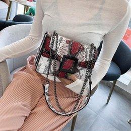 Womens Bag Snake Print Shoulder Bag Vintage Crossbody Womens Shoulder Crossbody Bags For Women Chain#G20 NWIc#