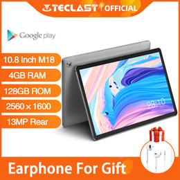 tablets android 4gb ram UK - Android Tablets Teclast M18 10.8 Inch IPS Tablet 2560×1600 Resolution 4GB RAM 128GB ROM 13MP Rear 5MP Front 4G Network Phone Cal