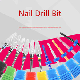 Discount drill bits for manicure 1PC Ceramic Nail Drill Bit Electric Nail Milling Cutter for Manicure Pedicure Art Accessoires Tool Remove Polish