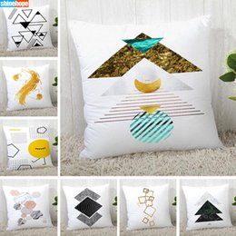 simple pillowcase pattern Australia - Custom Pillow Cases Simple Geometric Pattern Square Pillowcase Christmas Zippered Pillow Cover 40*40cm,45*45cm(One Side)