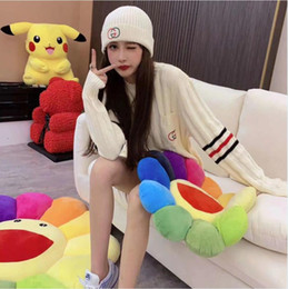 Wholesale ribbed t shirt online – design 2020 The new Summer women s T shirt long sleeves keep warm knitting simple style fashion Women s Sweaters loose sweater Complimentary hat