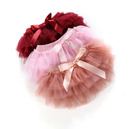 girl tutu skirt 2pcs tulle lace bloomers diaper cover Newborn infant outfits Mauv headband flower set Baby mesh bloomer1XPM Deals on Sale