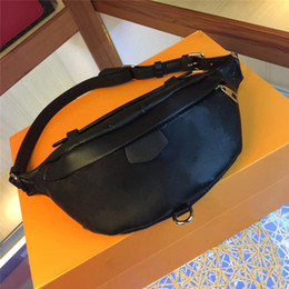 Venta al por mayor de M44812 mejor calidad de cuero real Waistpacks correa de las mujeres bolsa de manera clásica de la cremallera del bolso de Crossbody de los hombres cintura de los deportes bolsas de polvo código Bolsas Fecha