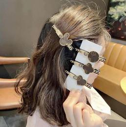 Wholesale south korean accessories resale online - Newest Styles Luxury LOGO Designer Women Korean Hair Clips Simple Letters Flower Desinger Hairpins Hair Jewelry Accessories BB Side Clip