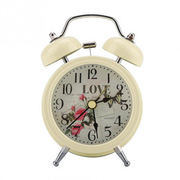 digital bell alarm clock 2021 - New Mini Metal Digital Alarm Clock Mute with Lights Twinkling Bell Classical Antique for Bedroom Christmas