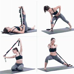 resistance strap exercises UK - 2.5M Women Yoga Stretch Strap Fitness Exercise Gym Rope Figure Waist Leg Resistance Fitness Bands Multi-Colors Yoga Belt