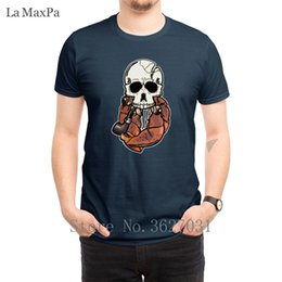 mens pipes Canada - Creative Normal T-Shirts Pipe Smoking Hermit Skull T Shirt Fun Unisex Tee Shirt For Mens Popular Round Neck Top Quality