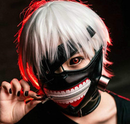 Wholesale tokyo ghoul cosplay costumes resale online - Cosplay Tokyo Ghouls Ken Kaneki D PU Zipper Leather Solid Perfect Mask Halloween Costume Mask Props