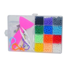 spelling puzzle Australia - Puzzle Mist Diy Water Handwork Magic Beads Creative Children Glue Bean Water Bead Spell Suit Toy Gift Auhlh