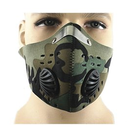 exhalation valve mask Canada - Sport Anti Outdoor Dust Keep Warm Antipm 2.5 Gas Defense Activated Carbon Camouflage Mask with Exhalation Valves