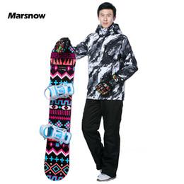 Wholesale yellow purple ski suit resale online – Marsnow New Men Ski Suit Warm Clothing Skiing Snowboard Jacket Pants Suit Windproof Waterproof Winter Wear Men Ski Costumes