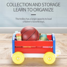 2020 Hot style Boys' assembly and storage of children's toys for pushing and pulling carts to train their physical manipulative ability on Sale