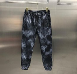 Wholesale piano print for sale – custom 20SS Italian autumn and winter latest fashion piano letter printing high quality pants Paris Casual sports vertical leg pants men and women