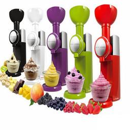Toptan satış Büyük Patron Swirlio Otomatik Dondurulmuş Meyve Tatlı Makinası Meyve Dondurma Makinesi Makinası Milkshake