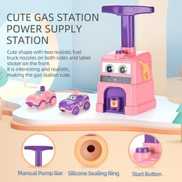 cars balloons NZ - kid toys car model toys balloon power cars 2020 selling Educational toys cute gas station power supply station