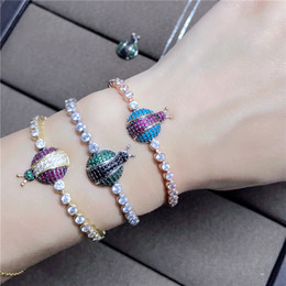 Discount beetle jewelry Luxury multicolour stones turkish beetles shaped tennis bracelet,Wedding Party dinner Jewelry for women's Accessari