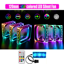Super new silent RGB sync 120mm LED fan pc cooler fan speed adjusted beautiful LED multimodes 12cm case RGB cooler on Sale