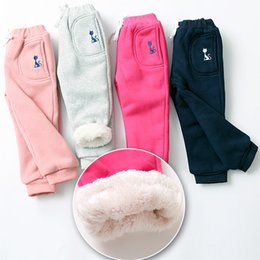 winter tights for kids UK - Boys Sport Pants Children Trousers Autumn Winter Baby Clothes Girls Sweaterpants Character Cat Kids Leggings For Boys Girls MX200811