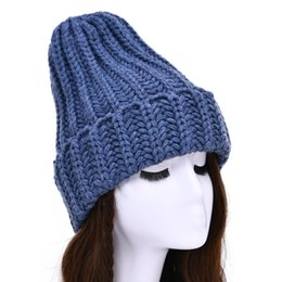cashmere beanies for women Australia - MAOMAOFUR Winter Hats for Women Cashmere Knitted Hat Warm Cap Handmade Crochet Ski Beanie Hat Female Soft Baggy Skullies