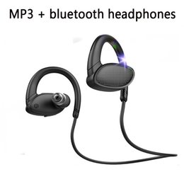 waterproof mp3 player swimming NZ - Sports Running Hands Free Headphones With Built In Mp3 Player Waterproof Bluetooth Headphones For Swimming