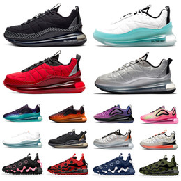 Volt Black Magma 720-818 Mens Running shoes 720 ispa Metallic Silver Bullet Clean White Aqua CNY 720s Men Women trainers Sports sneakers on Sale