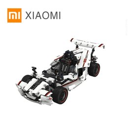 toy electric car parts NZ - Xiaomi Intelligent Building Blocks Road Racing Car Kids Toy Electric Bluetooth 5.0 APP Smart Remote Control 900+ parts LJ200919