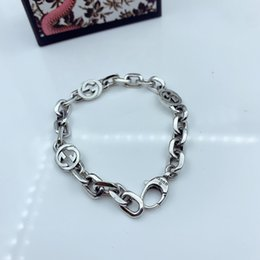 Wholesale 925 Sterling Silver Bracelets Cuban link Chain Fit Pandora Charm Bead Bangle Luxury designer Bracelet g Jewelry Gift For Women