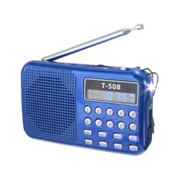 portable digital stereo music speaker NZ - Mini Portable dual band Rechargeable Digital LED display panel Stereo FM Radio SpeakerB TF mirco for SD Card MP3 Music Player
