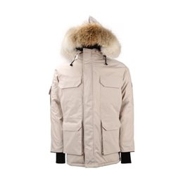Wholesale jackets expedition for sale – warmest winter Men Women Down Jacket Coat Hooded Standing Stretch Collar Short Front Long Back Thick Warm Expedition Winter Coats White Duck Parka Overcoat
