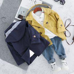 Wholesale 4t yellow hoodie resale online – Fashion Boys Clothing Sets Casual Cotton Long Sleeve Autumn Suits Hoodies Jackets Tops Shirts Denim Pants T