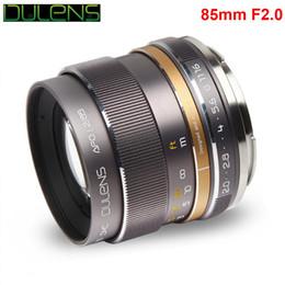 DULENS APO 85 millimetri F2.0 Lens telaio Apocromatico completa per Canon Full frame EF Mount fotocamera 5D Mark IV 6D costruzione interamente metallica 350g in Offerta