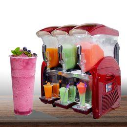Kolice Commercial Luxury kitchen equipment 3 x 12L Tanks Margarita  summer Drink ice Slush Machine  Beverage Maker on Sale