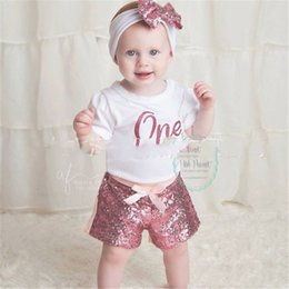 Discount white cargo shorts Free DHL UPS 21 Colors Baby Kids Sequins Shorts INS Quality Xmas Dance Gilrs Straps Tie Children Fashions Chirtmas Clothes for 0-8T