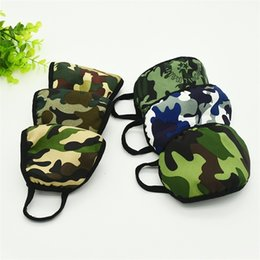 computer dust covers NZ - Camouflage Durable Adult Dust Respirator Mascherine Print 2 Tier Anti Droplet Winter Mask Computer Kint Mouth Cover Face Masks 6 Color 1ry e