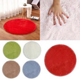 flooring mats Australia - Yoga Mat Plush Velvet Silk Plush Round Mat Fitness Living Room Bedroom Carpet Floor Comfort Foam Yoga