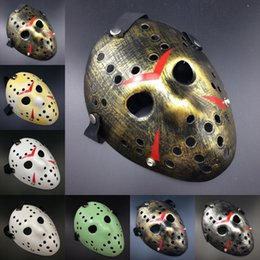 jason hockey mask UK - Vintage Party Masks Delicated Jason Voorhees Freddy Movie Hockey Festival Halloween Masquerade Mask Cosplay Scary Mask