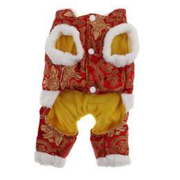 chinese dog costumes 2020 - Dog Festive Tang Suit Winter Warm Costume Pet Clothing for Chinese Festival discount chinese dog costumes