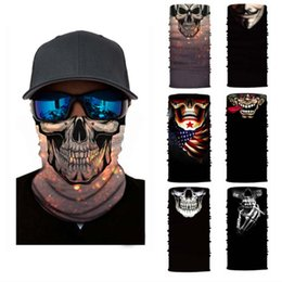 clown film UK - Halloween Skeleton Scary Shark Mask Scarf Movie Clown Anime Skull Seamless Magic Headwear Sport Bandanas Cycling Hiking Scarf Neck Gaiter