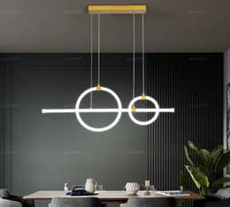 Wholesale masters degrees for sale – custom 360 degree bright Gold Modern LED Pendant Lights Dining room kitchens Suspension Luminaire colgante Avize lustre Pendant lamp
