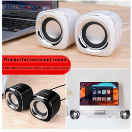 Discount small desktop computers New notebook small audio computer desktop speaker mini mobile phone subwoofer USB portable home surround sound fashion design