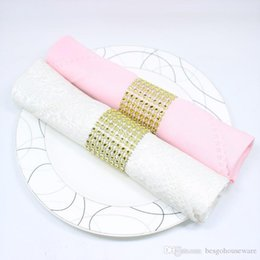 diamond napkin rings for weddings UK - Hotel Napkin Decor Rings Chair Sash Diamond Mesh Wrap Napkin Buckle For Wedding Reception Party Table Decorations Supplies BC BH0593