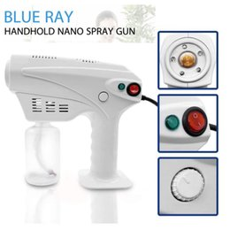 light machine gun UK - Handheld Blue Light Nano Steam Gun Atomization Disinfection Fog Machine Hair Spray Machine Household Cleaning Tools CCA12398 12pcs