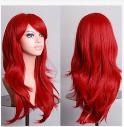 long layered hair NZ - Fashion Multi-Layered Fluffy Red Long Wavy Cosplay Wig Hair