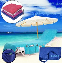 quick beds UK - 73*210cm Microfiber Sunbath Lounger Bed Lounger Mate Quick Drying Beach Towel Holiday Garden Beach Chair Cover Towels Blanket 50pcs OOA4702