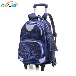 backpack for wheel 2020 - Boys Wheeled Backpack School Rolling Okkid For Bags Children For Bookbag Climbing Trolley Boy School Backpack Waterproof