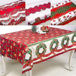 print tablecloths wholesale Australia - Christmas Decorations Table Cloth New Year Christmas 3D Polyester printed Tablecloth Antifouling Household Table Cover DHL WX9-1730