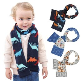 children polka dot scarf Australia - INS Kids Baby Scarves Dinosaur Heart Designer Baby Boys Girls Winter Outwear Children Wraps Scraf