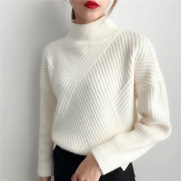Thick Turtleneck Cashmere Sweater Mulheres 2020 Outono Inverno Malhas Roupa Tricot Jumper Pull Femme Streetwear pulôver Y200909