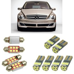 r plate Canada - Interior led Car lights For r class w251 v251 minivan bulbs for cars License Plate Light 8pc